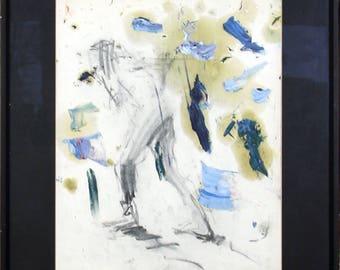 Warrior woman sketch, framed