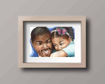 Daddy's Girl-family portrait-father and daughter-father's day gift