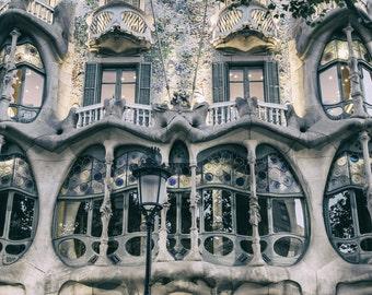 Barcelona Photo, Windows Print, Catalan Photography, Gaudi Print Wall Art, Casa Batllo Picture, Spain Home Decor, Europe Architecture