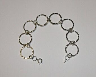 Hammered Rings Bracelet
