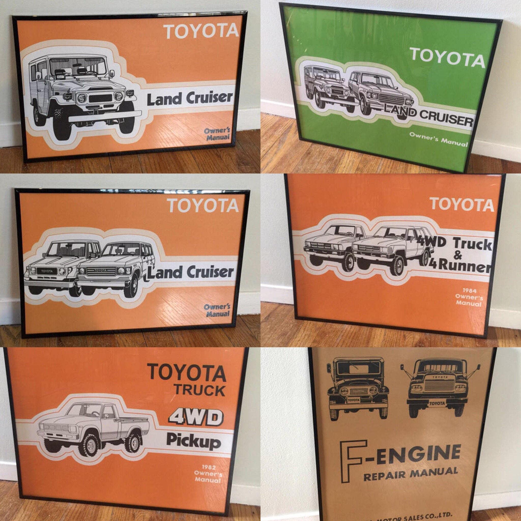 Framed Prints 16x20 4Runner HiLux FJ40 FJ60 Toyota