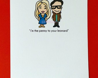 Penny and Leonard Love Greeting Card