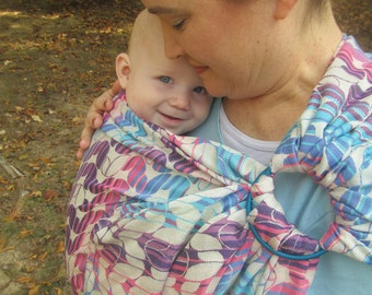 Woven Ring Sling, Tekhni Laurel Taffy Wcrs Wrap Conversion - gathered shoulder - DVD included, baby, toddler carrier