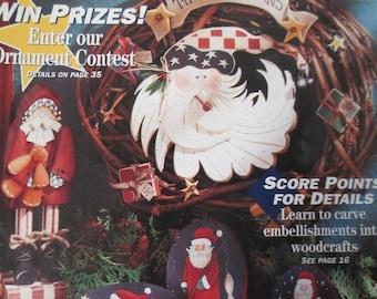 "Christmas issue ""Decorative Woodcrafts"" back issue  used magazine Dec 1994"