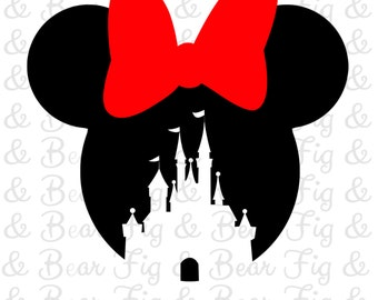 Disney Minnie Mouse Castle Shirt Iron on Transfer for Girls Personalized Free