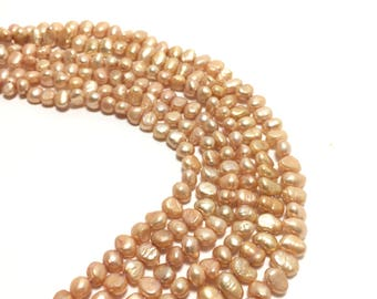 Nugget 4.5-5mm Champagne Freshwater Pearls 16 inches, NUG009