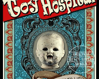 Toy Hospital Victorian Style Poster Metal Sign Home Decor Man-Cave 3 Sizes To Choose From