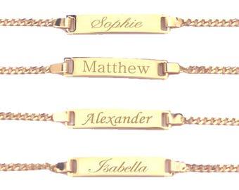 Baby Name Bracelet, Personalized, Child ID Bracelet, Custom Name Bracelet, Baby Boy Bracelet, Baby Girl Bracelet