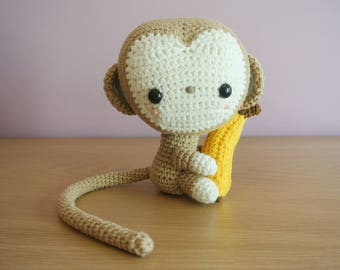 Monkey Crochet Monkey Amigurumi - Handmade Crochet Amigurumi Toy Doll - Woodland Animal - Monkey Crochet - Amigurumi Monkey
