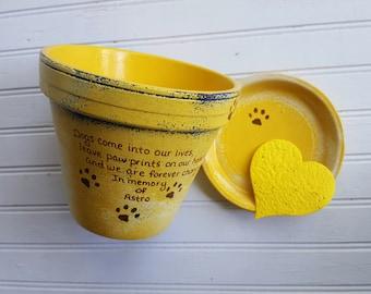 Cadeaux pour animaux de compagnie - peint des Pots de fleurs - Pet Memorial cadeau - souvenir de chien - chat Memorial - Memorial jardinière