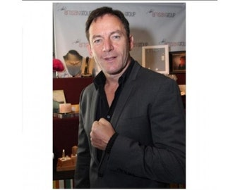 Harry Potter star Jason Isaacs Wearing Our Black Paracord Survival Chunky Corded Bracelet Perfect Present for Anyone That Loves the Outdoors