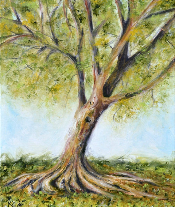 Tree at Riverside Park Painting