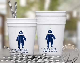 Baby Shower Personalized Plastic Cups