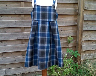 Blue tartan dress