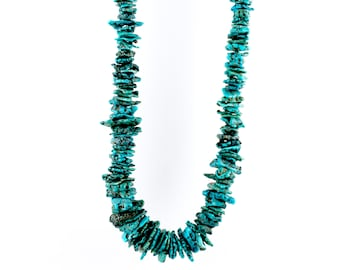 Gorgeous Chunky Nuggety Turquoise Heishi Necklace