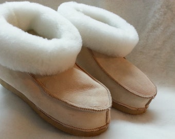 Enhanced Shearling Sheepskin slippers soles