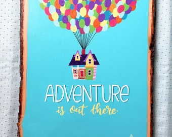 Adventure Is Out There—UP-Inspired Hand Painted Sign