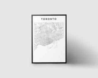 Toronto Map Print
