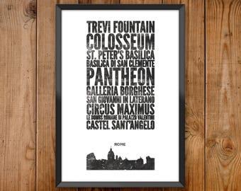 Rome City Print