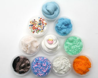 MYSTERY SLIME PACK ( 10 Slimes) Cheap slime, Mystery slime,clear slime, floam, cloud slime, fluffy slime, scented, unscented,mystery slimes
