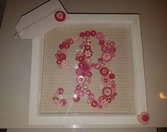 Button in Box Frame Letter