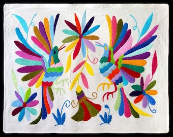 Nice Otomi embroidery from Mexico. Mexican textile. Mexican folk art