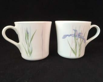 Set of 2 Shadow Iris Corning Ware Cups/Mugs