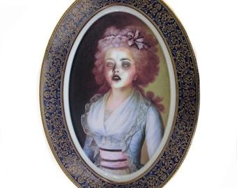 "Zombie Contessa Portrait plaque 14"""