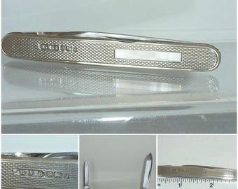 English Silver Fruit Knife Pen Knive Pen Knife Sheffield 1981 Birthday Gift folding pocket knife + Gift Box