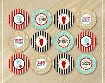 Ice Cream Party - Cupcake Toppers - Ice Cream Birthday Party