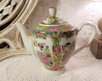 Rose Medallion Japanese tea pot