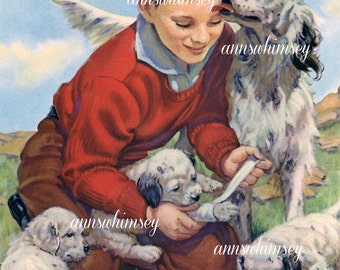 "Dogs and Doctor Boy ""Grateful Thanks"" Restored Art #503"