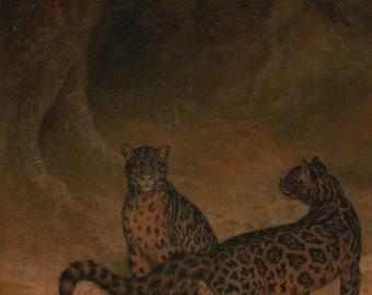 Jacques-Laurent Agasse: Clouded Leopards. Fine Art Print/Poster (5095)