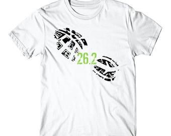 26.2 Miles Running Shoe Footprint Marathon Runner T-Shirt