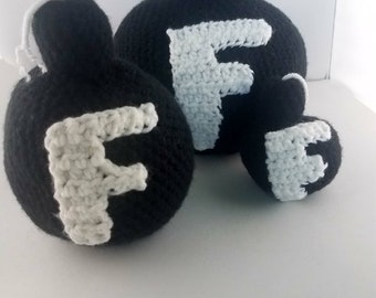 Crochet F Bomb Plushie