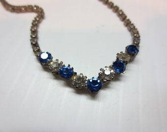 Beautiful Vintage Rhinestone Necklace A Sparkler