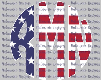 Americana Monogram - American Flag Monogram COMMERCIAL USE FILES