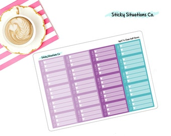 April To Clean Half Boxes ~ Made To Fit EC Planners