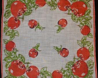 Vintage Apple Handkerchief