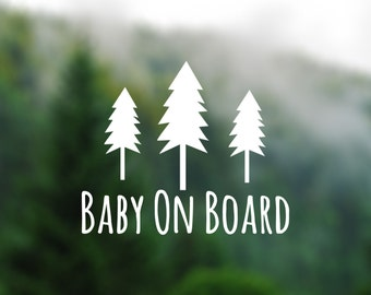 DECAL [Baby On Board] Vinyl Decal, Car Window Decal, Baby Shower Gift, Baby Shower, Baby On Board Sign, Pregnancy, Adventure Decal