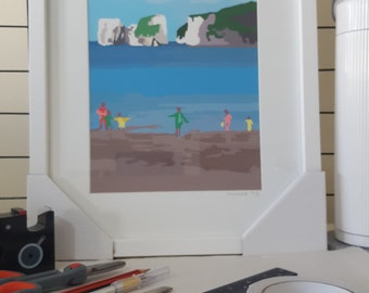 Framed print of 'View towards Old Harry' by Maxine Walter