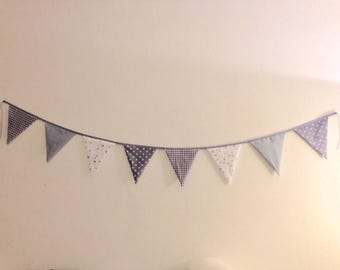 Grey cotton fabric Bunting