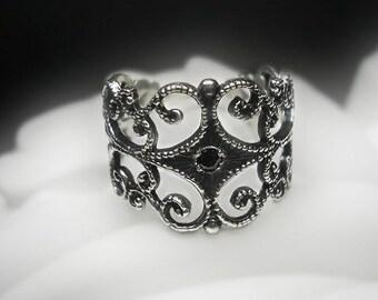 Reserved Custom Filigree Ring with Aquamarine