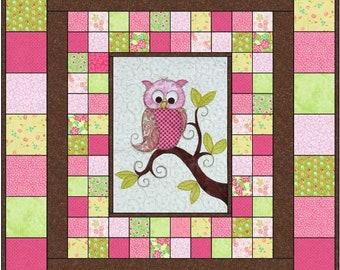 Baby Owl Quilt Pattern PDF // Owl Quilt Pattern PDF // Baby shower Gift // Appliqué Pattern // Child's Quilt Pattern // Twin Quilt Pattern