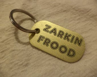 Zarkin Frood Etched Brass Keychain