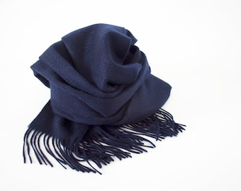 Classic Fringed 100% Cashmere Shawl/ Autumn Winter Scarf / Gift For Her / Gift For Him / Woman Scarf / Man Scarf / Handmade Accessories