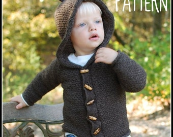 make your own Sugar Bear Hooded Cardi (DIGITAL KNITTING PATTERN) sized 6 months to age 10