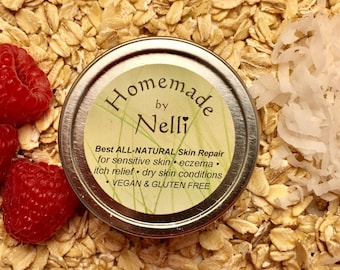 Best Eczema Cream | Skin Care | Bath & Beauty | Dry Skin | Dermatitis | Vegan | Gluten Free | Colloidal Oatmeal | All Natural | Rash | Salve