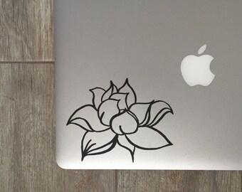 Lotus Flower (1), Laptop Stickers, Laptop Decal, Macbook Decal, Car Decal, Vinyl Decal