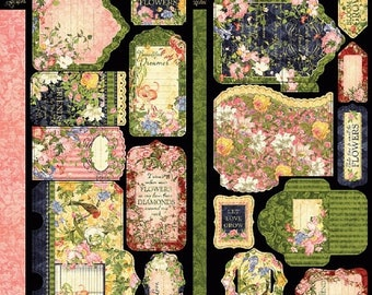 ON SALE Graphic 45 Floral Shoppe Pockets and Tags